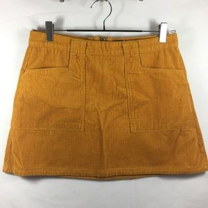 Forever21 Corduroy Golden Pocket Mini Skirt